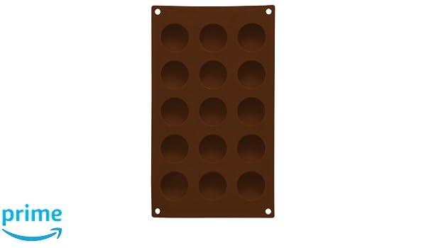 Premier Housewares - Molde de silicona para magdalenas (superficie antiadherente, 15 magdalenas), color marrón: Amazon.es: Hogar