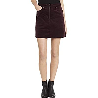 Calvin Klein Jeans Womens Velvet Above Knee A-Line Skirt