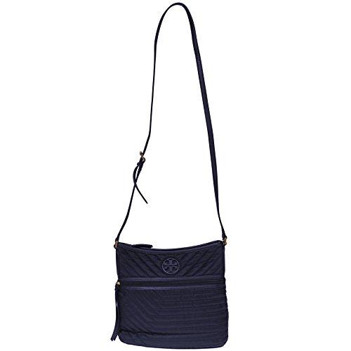 Tory Burch Crossbody Nylon Quilted Swingpack Tote Blue Nylon - Burch Nylon Tory
