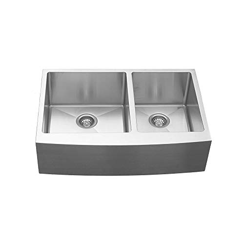 - Elite EL-86 Double Undermount Bowl with Apron Sink