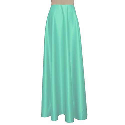 E K Women's long bridesmaid skirt Maxi evening formal wedding prom skirt-xs-Spearmint Green und by E K