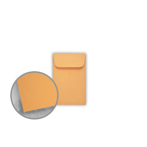 Printmaster Brown Kraft Envelopes - No. 1 Coin (2 1/4 x 3 1/2) 28 lb Writing 500 per Box by National Envelope Printmaster