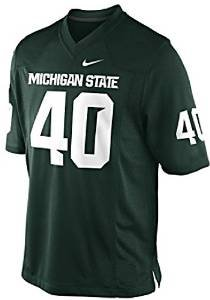 (Nike Michigan State Spartans #40 Kid's Toddler Replica Football Jersey - Green (4T))