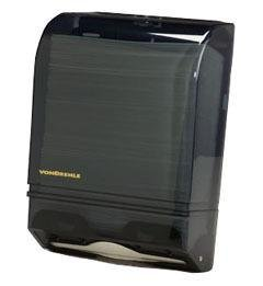 VonDrehle 175AO Folded paper Towel Dispenser, For Multi-Fold & C-Fold Towels, Smoke Color Translucent Cover by VonDrehle