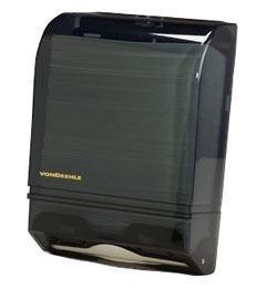 VonDrehle 175AO Folded paper Towel Dispenser, For Multi-Fold & C-Fold Towels, Smoke Color Translucent Cover