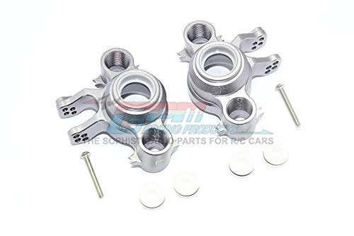 Gs Racing Suit - Traxxas E-Revo 2.0 VXL Brushless (86086-4) Upgrade Parts Aluminum Front / Rear Knuckle Arms - 1Pr Set Gray Silver