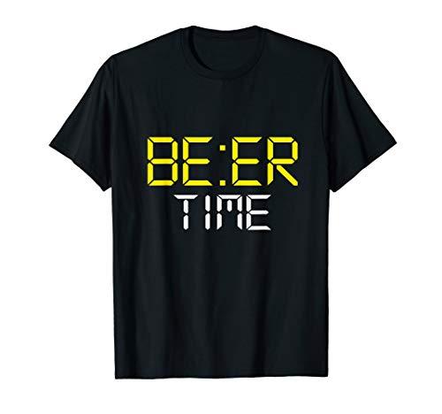 (ITS BEER TIME T SHIRT Drinking Tee Beer O'Clock Tee)