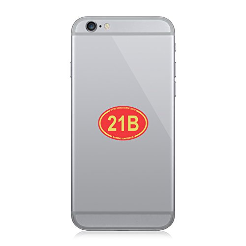 United States Marine Corps MOS 21B Combat Engineer Red Oval - Cell Phone (21b Combat Engineer)