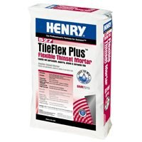 WW HENRY COMPANY FP0TFLXP25G Henry Flexible Thinset Mortar, 25 lb by WW Henry Company