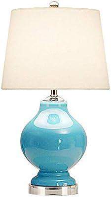 LMCYP Lámpara de escritorio de cristal azul americana clásica ...