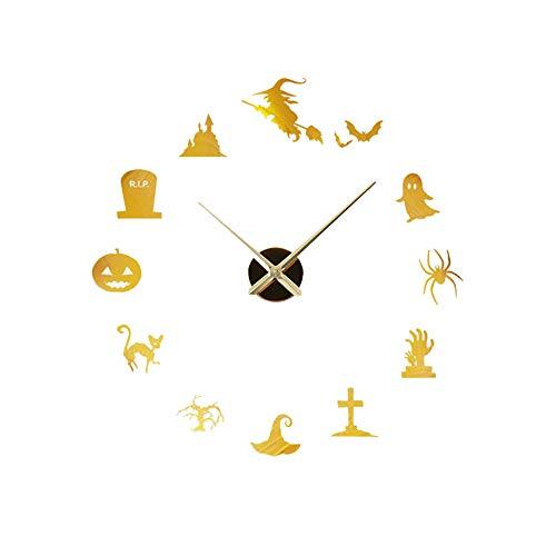 Creative DIY Wall Clock Mirror Wall Clock Home Halloween -
