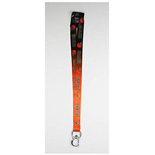 Cleveland Browns Key (Pro Specialties Group NFL Cleveland Browns Ombre Lanyard, Brown/Orange, Onse Size)
