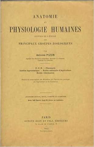 Livre gratuits en ligne anatomie et physiologie humaines suivi de l'étude des principaux groupes zoologiques pdf, epub