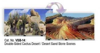Desert Cactus Aquarium or Terrarium Background, 19'' x 50'' by Blue Ribbon