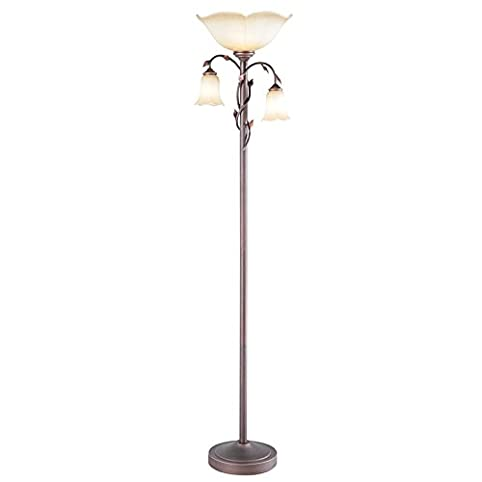 High Quality Allen + Roth Eastview 72.4 In Dark Oil Rubbed Bronze 3 Way Torchiere