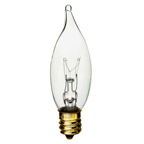 Bulbrite KR40CFC/32 40W Krystal Touch Flame Tip Chandelier Bulb (CA10), Candelabra - Krypton Bulb Globe Decorative Light