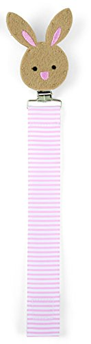 Mud Pie Pacy Clip, Bunny/Pink
