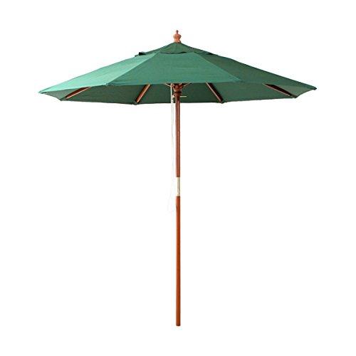 天然木 木製パラソル 210cm【ソナタ-SONATA-】パラソル 撥水 天然木 グリーン B0107N4FEG グリーン グリーン