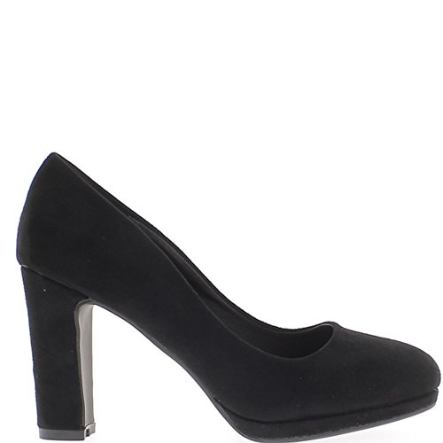 ChaussMoi Shoes Women Black 9.5 cm Pieces Thick Heel Round pad Before Appearance Suede 7ZPYG