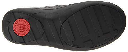 Fitflop Superloafer (Leather), Zuecos para mujer Negro (Black 090)