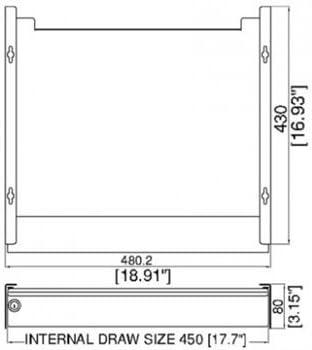 Penn Elcom Ex 6201s Laptop Sicherheitsschublade Für Elektronik