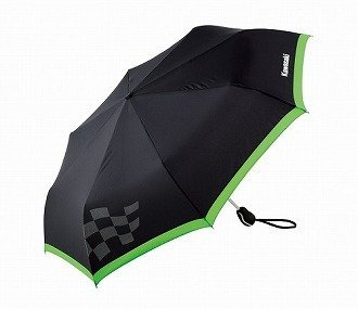 KAWASAKI (Kawasaki Genuine Accessories) Kawasaki checkered flag umbrella (one-touch) J90060050