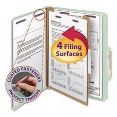 Smead - Pressboard Classification Folders Letter Four-Section Gray-Green 10/Box
