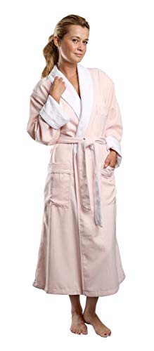 (Monarch/Cypress Plush Lined Microfiber Spa Robe - Unisex Luxury Hotel Bathrobe in Pink/Medium )