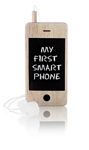 Iwoody My First Smartphone Wood Toy 'Cell Phone' with Chalkboard and Erasers