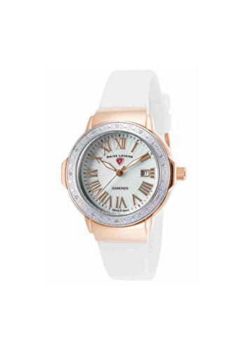 Swiss Legend Women's 20032DSM-RG-02-SB-WHT South Beach Analog Display Swiss Quartz White Watch
