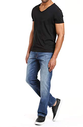Mavi Mens Matt Relaxed Straight Leg Jeans, Mid Brushed Cashmere, 36W x ()