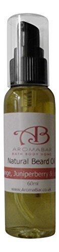 Beard Oil 60ml with Orange, Juniperberry & Lemon Natural Oils Aromabar