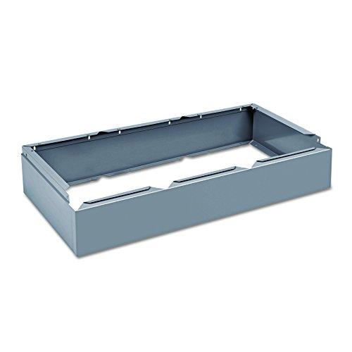 Tennsco CLB3618MG Three Wide Closed Locker Base, 36w x 18d x 6h, Medium Gray