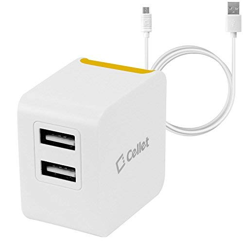 Cellet Universal High Powered 12W/2.4A Dual USB Home Charger Compatible to Amazon Kindle, Amazon Fire Tablets, eReaders…