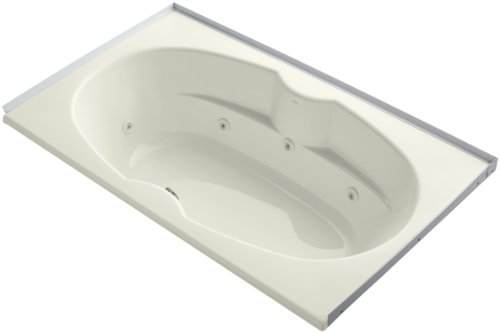 (Kohler K-1131-FH-96 7242 Whirlpool with Flange and Heater, Biscuit)