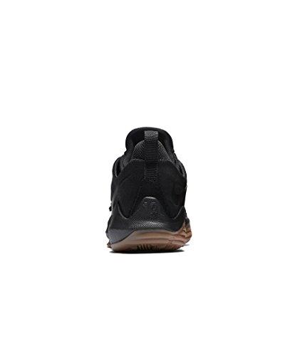 Nike Herren Paul George PG1 Basketballschuhe Schwarz / Anthrazit / Gum Hellbraun / Schwarz