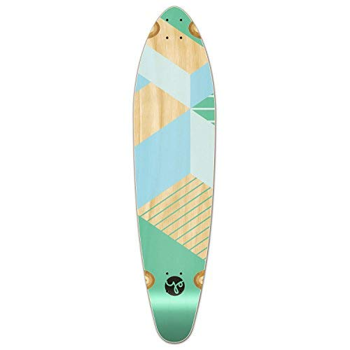 Yocaher Geometric Series Skateboard Longboard Kicktail Deck Only - Green