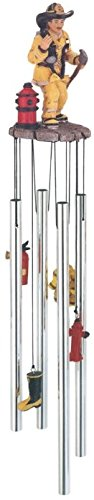 StealStreet SS-G-41350 Wind Chime Round Top Fireman On Call Hanging Garden Decoration Decor (Valentinesday Gifts For Men)