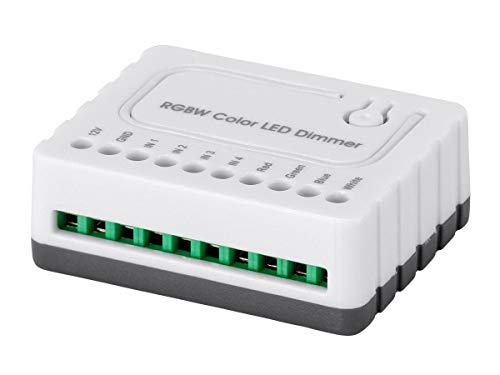 Monoprice 136511 Z-Wave Plus RGBW Dimmer Controller Module, White