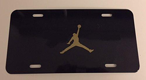 Dunkman - Black with GOLD Automotive License Frame Insert - Basketball (Jordan License Plate)
