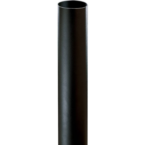 Progress Lighting P5313-31 Black Bollard Shown with P5205-31 Light (Order Separately), Black by Progress Lighting