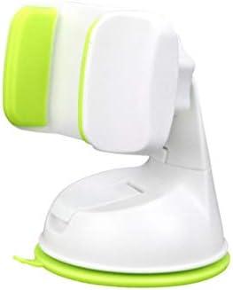 車の吸引のコップブラケット、車の電話ホールダーの空気出口の運行ブラケット360°回転式満ちる座席 (色 : White green)