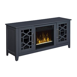Jasmine Electric Fireplace Media Console In Cool Gray