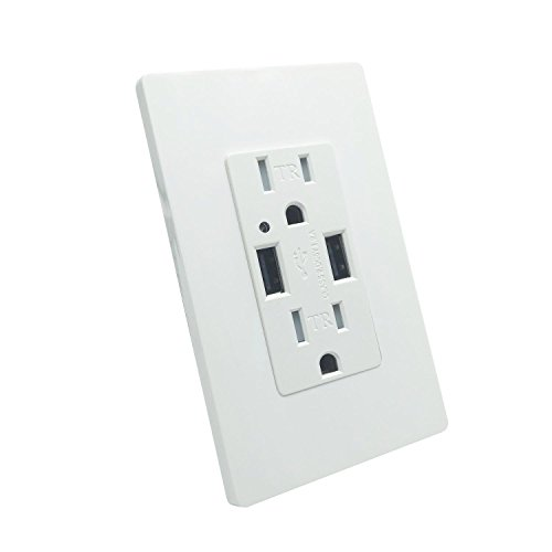USB Outlet - LASOCKETS Dual US