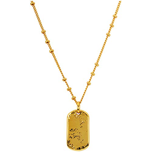 gorjana Women's Griffin Dog Tag Necklace, Gold, One Size (Griffin Jewelry)