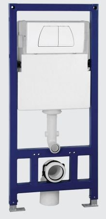 EAGO PSF332 Concealed Dual Flush In-Wall Tank Carrier for Wall Mounted Toilets