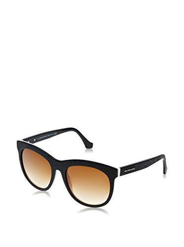 Sunglasses Balenciaga BA 24 BA0024 04F black/white / gradient brown