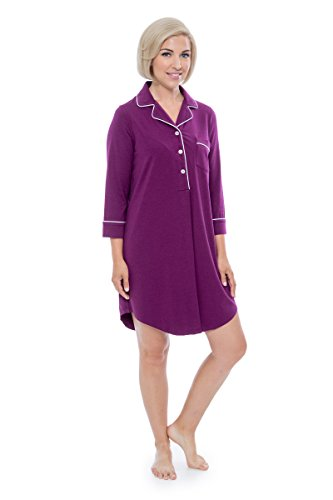 Concord Women Watches - Women's Nightshirt in Bamboo Viscose (Zenrest, Concord Grape, Medium) Best Women's Gift WB0475-CON-M