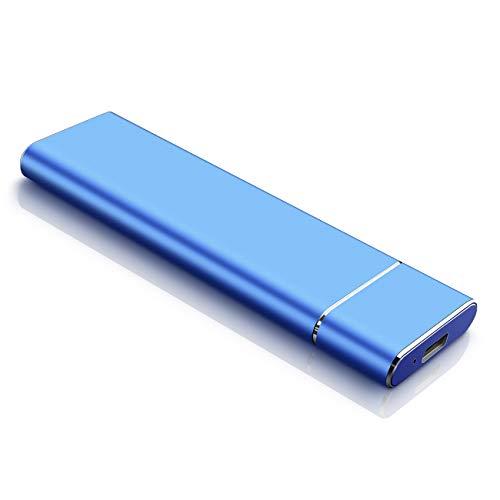 External Hard Drive Portable Hard Drive External -Ultra Slim 1TB 2TB Hard Drive for Mac, PC and Laptop (2TB, Blue)