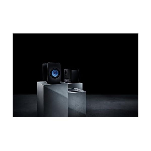 KEF LS50W - SP3903BA - Enceinte sans fil - Enceintes actives | HiFi | Airplay 2 Enceintes | Spotify Connect, TiDAL | LS50 Meilleur système de musique active et système stéréo - Noir/Bleu 5